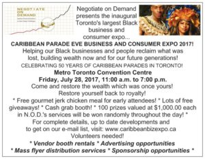 Caribbean Parade Eve Business and Consumer Expo 2017!