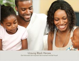 Unsung Black Heroes Calendar cover