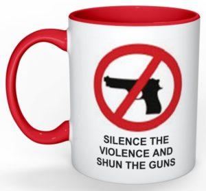 silence-the-violence-and-shun-the-guns-mug